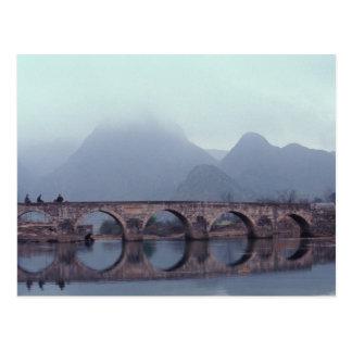 Asia, China, Guizhou, Anshuichang. Ancient Postcard