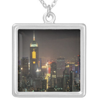 Asia, China, Hong Kong, central from Stubbs road Silver Plated Necklace