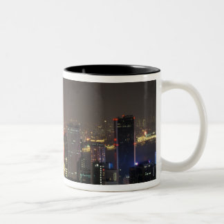 Asia, China, Hong Kong, central from Stubbs road Two-Tone Coffee Mug