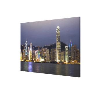 Asia, China, Hong Kong, city skyline and 2 Canvas Print