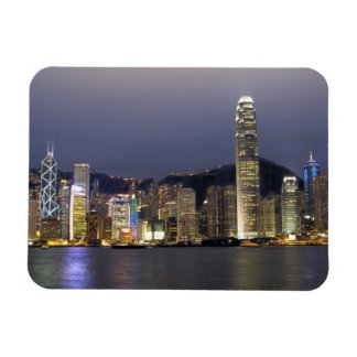Asia, China, Hong Kong, city skyline and 2 Magnet