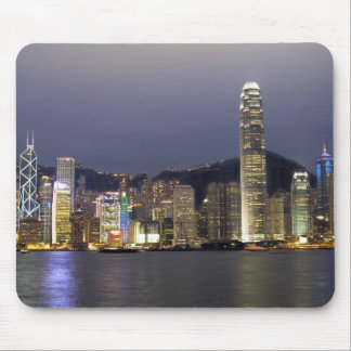 Asia, China, Hong Kong, city skyline and 2 Mouse Pad