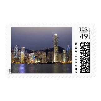 Asia China Hong Kong city skyline and 2 Stamp