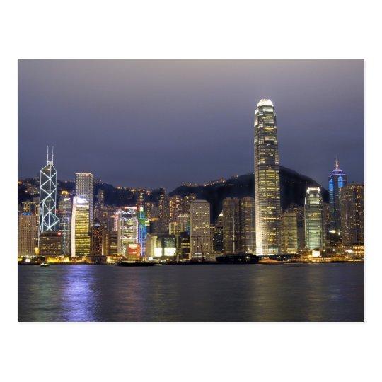 Asia, China, Hong Kong, city skyline and 2 Postcard