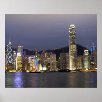 Asia, China, Hong Kong, city skyline and 2 Poster