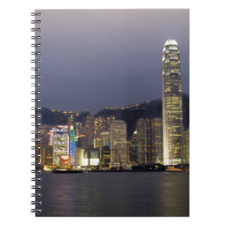 Asia, China, Hong Kong, city skyline and 2 Spiral Notebook