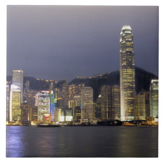 Asia, China, Hong Kong, city skyline and 2 Large Square Tile