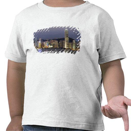 Asia, China, Hong Kong, city skyline and 2 T-shirts