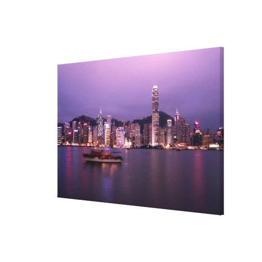 Asia, China, Hong Kong, city skyline and Canvas Print
