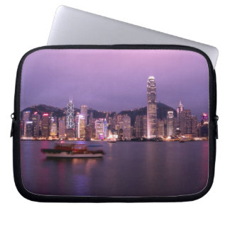 Asia, China, Hong Kong, city skyline and Computer Sleeve