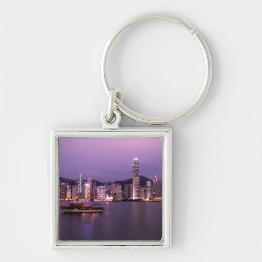 Asia, China, Hong Kong, city skyline and Keychain