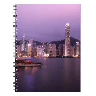 Asia, China, Hong Kong, city skyline and Notebook