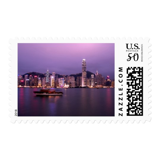 Asia, China, Hong Kong, city skyline and Postage
