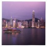 Asia, China, Hong Kong, city skyline and Tile