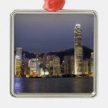Asia, China, Hong Kong, horizonte de la ciudad y 2 Ornamentos De Reyes Magos