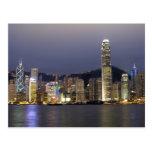Asia, China, Hong Kong, horizonte de la ciudad y 2 Postales