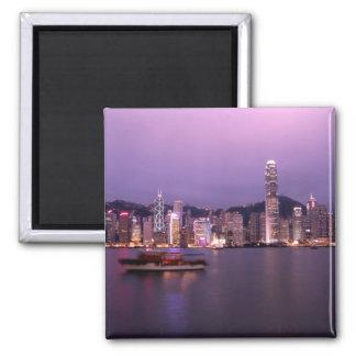 Asia, China, Hong Kong, horizonte de la ciudad y Imán Para Frigorifico
