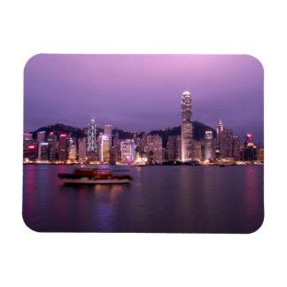 Asia, China, Hong Kong, horizonte de la ciudad y Iman De Vinilo