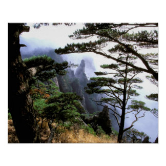 Asia, China, Huanshan. The yellow mountain Poster