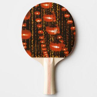 Asia, China, Pekín. Linternas chinas rojas, Pala De Ping Pong