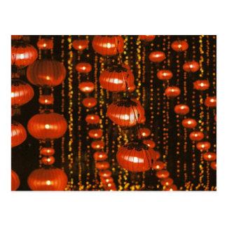 Asia, China, Pekín. Linternas chinas rojas, Postales