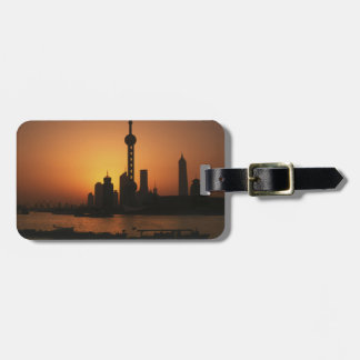 ASIA, China, Shanghai View of Oriental Pearl TV Luggage Tag