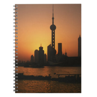 ASIA, China, Shanghai View of Oriental Pearl TV Notebook