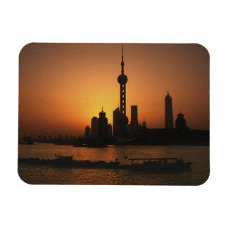 ASIA, China, Shanghai View of Oriental Pearl TV Rectangular Photo Magnet