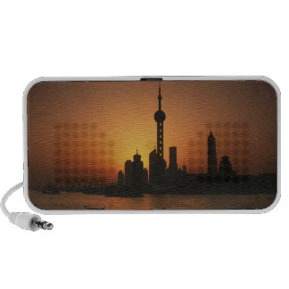 ASIA, China, Shanghai View of Oriental Pearl TV Speaker System