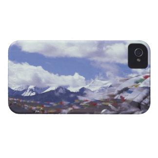 Asia China Tíbet paso de Tangla Banderas del r Case-Mate iPhone 4 Cárcasa