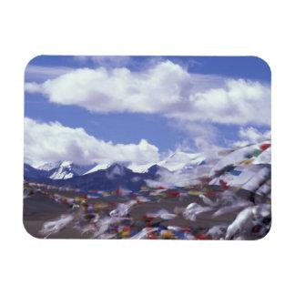 Asia, China, Tibet, Tangla Pass. Prayer flags, Rectangle Magnet