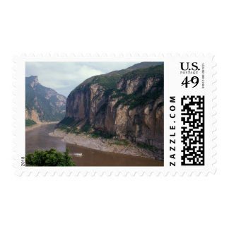 Asia, China, Yangtze River, Three Gorges. Postage Stamp