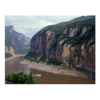 Asia, China, Yangtze River, Three Gorges. Postcard