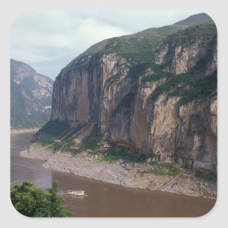 Asia, China, Yangtze River, Three Gorges. Square Sticker