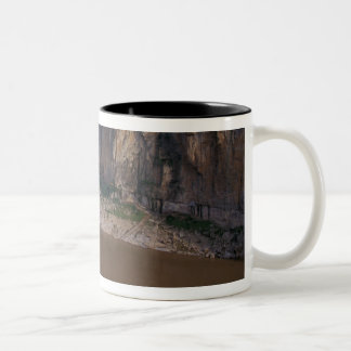 Asia, China, Yangtze River, Three Gorges. Two-Tone Coffee Mug