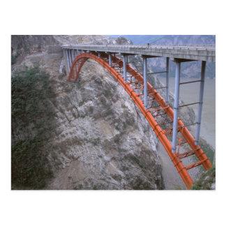 Asia China Yangtze River Zigui to Men Tian Postcard