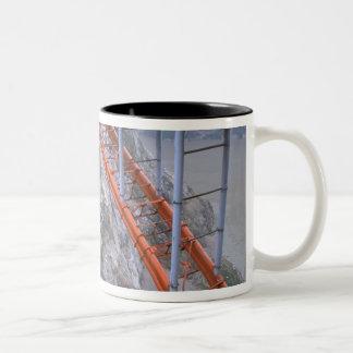 Asia, China, Yangtze River. Zigui to Men Tian Two-Tone Coffee Mug
