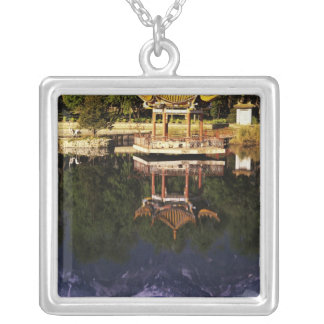 Asia, China, Yunnan, Dali. Cangshan Mountains Silver Plated Necklace