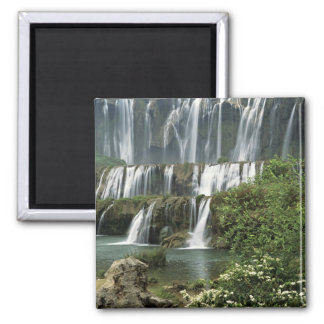 Asia, China, Yunnan Province, Qujing, Luoping 2 Inch Square Magnet