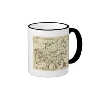 Asia con los límites resumidos taza de café