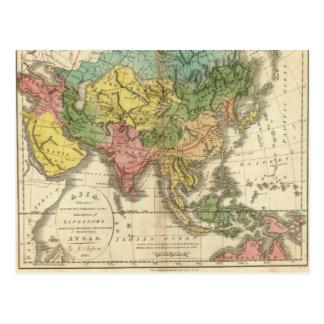 Asia e imperio de Genghis Kahn Tarjeta Postal
