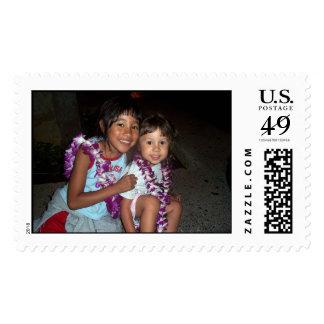Asia & Ella Postage Stamp