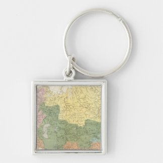 Asia, Europe river systems Keychain