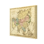 Asia Hand Colored Atlas Map 2 Canvas Print