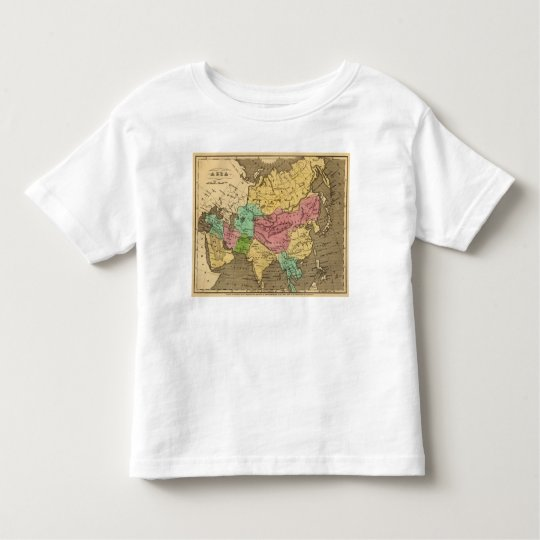 Asia Hand Colored Atlas Map 2 Toddler T-shirt
