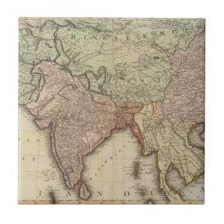 Asia, hojas de S Azulejo Cuadrado Pequeño