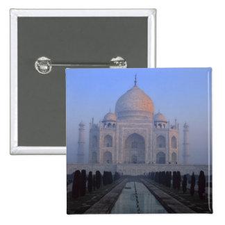 Asia; India; Agra. Taj Mahal. 2 Inch Square Button