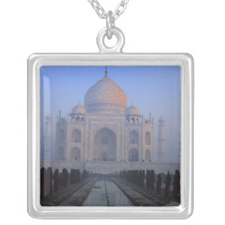 Asia; India; Agra. Taj Mahal. Square Pendant Necklace
