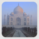 Asia; India; Agra. Taj Mahal. Square Stickers