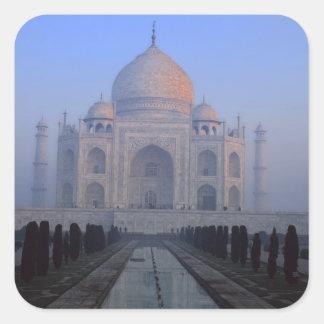 Asia; India; Agra. Taj Mahal. Square Sticker